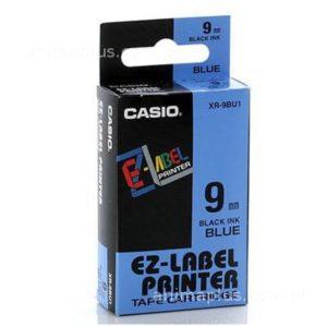Taśma Casio XR9BU1 niebieska/ czarny nadruk