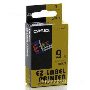 Taśma Casio XR9GD1 złota/ czarny nadruk