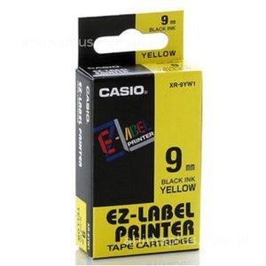 Taśma Casio XR9YW1 żółta/ czarny nadruk