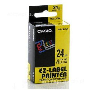 Taśma Casio XR24YW1 żółta/ czarny nadruk