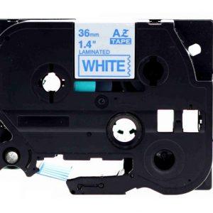 Taśma AZe-263 biała/ niebieski nadruk