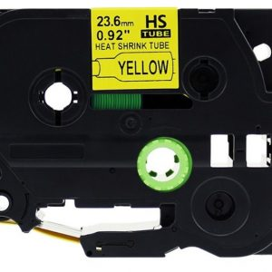 Taśma termokurczliwa AHSe-651 żółta/ czarny nadruk