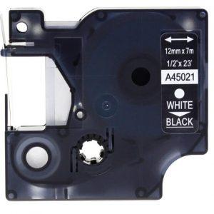 Taśma zamiennik Dymo 45021 (s0720610) czarna/biały nadruk