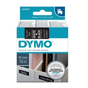 Taśma Dymo 45021 (s0720610) czarna/biały nadruk