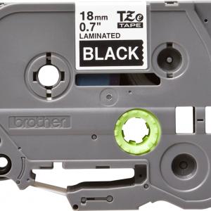 Taśma TZe-345 czarna/ biały nadruk