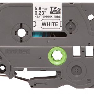 Taśma termokurczliwa HSe-211 biała/ czarny nadruk