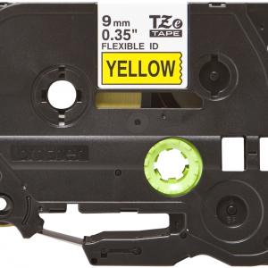 Taśma TZe-FX621 żółta/ czarny nadruk elastyczna