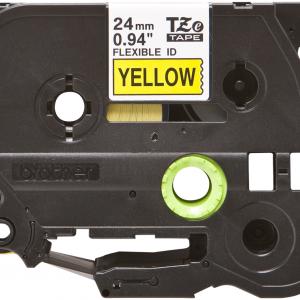 Taśma Brother TZe-FX651 żółta/ czarny nadruk elastyczna