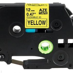 Taśma AZe-FX651 żółta/ czarny nadruk elastyczna