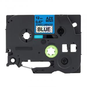 Taśma AZe-531LT niebieska deco/ czarny nadruk