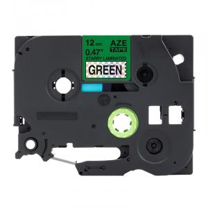 Taśma AZe-731LT zielona deco/ czarny nadruk