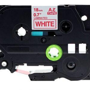 Taśma AZe-242 zamiennik Brother TZe-242 biała/ czerwony nadruk