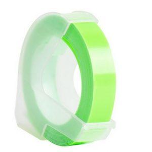 Taśma 3D zamiennik Dymo zielona fluo 9mm