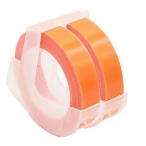 Taśma 3D zamiennik Dymo fluo pomarańczowa 9mm