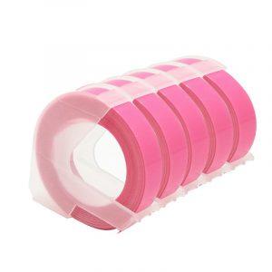 Taśma 3D zamiennik Dymo fluo różowa 9mm