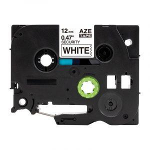 Taśma AZe-SE3 zamiennik Brother TZe-SE3 biała/ czarny nadruk plombowa