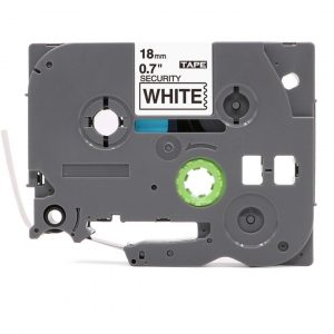 Taśma AZe-SE4 zamiennik Brother TZe-SE4 biała/ czarny nadruk plombowa