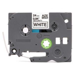 Taśma AZe-SE5 biała/ czarny nadruk plombowa