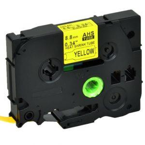 Taśma termokurczliwa AHSe-621 zamiennik Brother HSe-621 żółty/ czarny nadruk