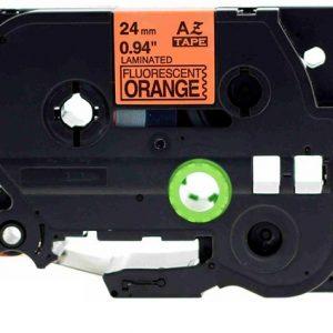 Taśma AZe-B51 zamiennik Brother TZe-B51 pomarańczowy fluo/ czarny nadruk