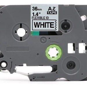 Taśma AZe-FX261 zamiennik Brother TZe-FX261 TZFX261 biała/ czarny nadruk elastyczna