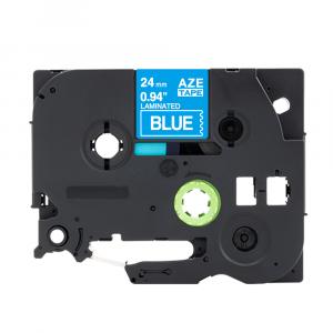 Taśma AZe-555 zamiennik Brother TZe-555 niebieska/ biały nadruk