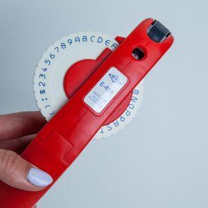 Wytłaczarka E-404 czerwona (obsługa 9 i 12mm)