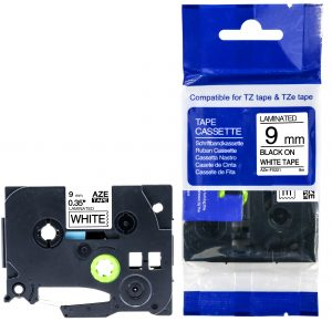 Taśma AZe-FX221 zamiennik Brother TZe-FX221 TZFX221 biała/ czarny nadruk elastyczna