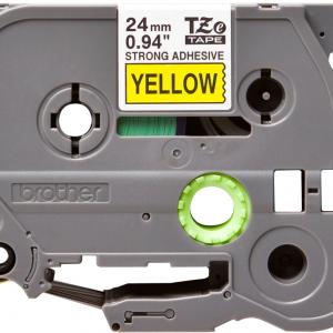 Taśma Brother TZe-S651 TZS651 żółta/ czarny nadruk mocny klej