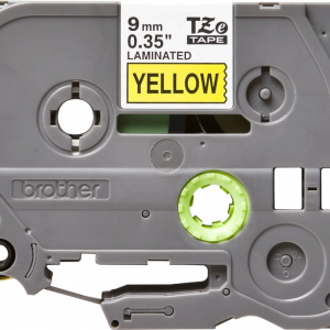 Taśma Brother TZe-S621 TZS621 żółta/ czarny nadruk mocny klej