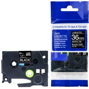 Taśma AZe-365 zamiennik Brother TZe-365 TZ365 czarna/ biały nadruk